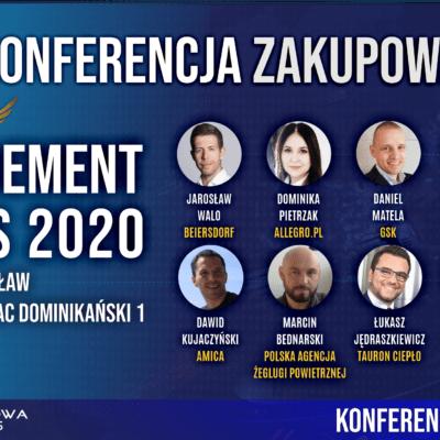 KONFERENCJA ZAKUPOWA 2020 PROCUREMENT ANGELS FORUM ZAKUPOW WROCLAW WARSZAWA ZARZADZANIE ZAKUPAMI
